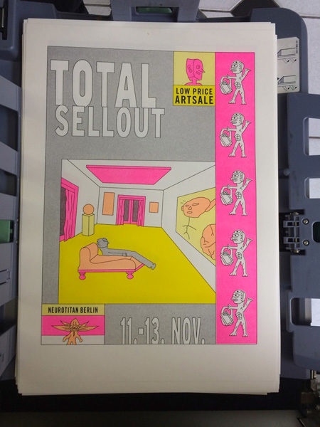 "Riso Poster ""Total Sellout 2016"" A3 15€"