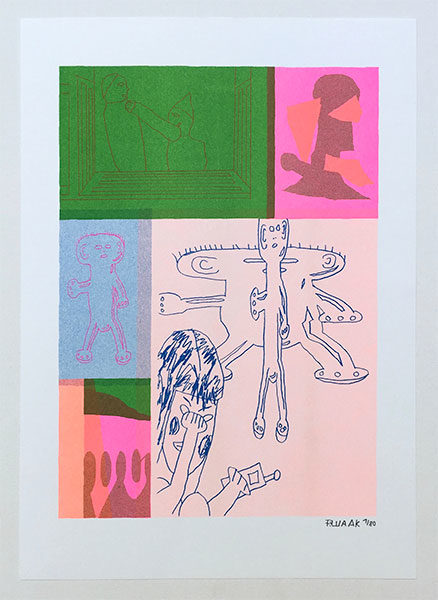 """""""Relationship""""Riso Poster 20€"""